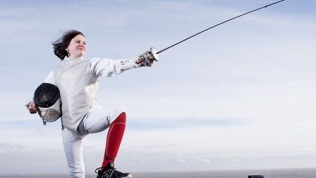 Evangeline Lawrence,11, from Lowestoft has qualified for the British Youth Championships in fencing.