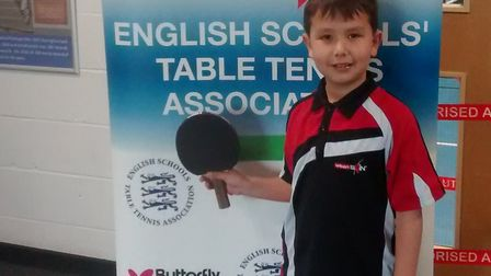 Coldfall Primary School student Sam Gabriel has been ranked as the top under-10s table tennis player