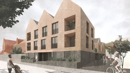 An artist's impression of the proposed development at Mandeville Street. Picture: Hackney Council