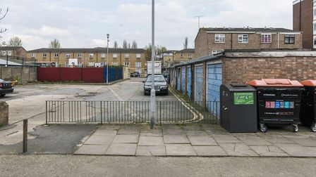 The garages at Mandeville Street. Picture: Hackney Council
