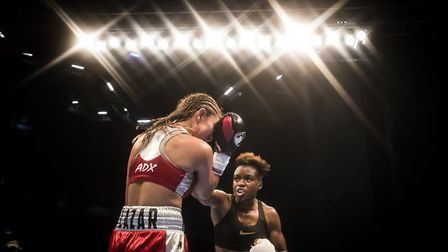 Nicola Adams (right) in action against Maryan Salazar in May 2017 (pic: Danny Lawson/PA)
