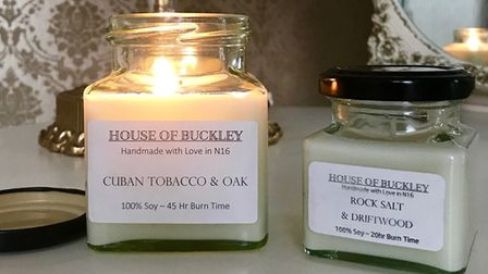 Caroline Buckley's candles. Picture: House of Buckley