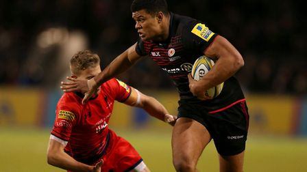 Saracens' Nathan Earle during the Aviva Premiership match against Worcester Warriors (pic: Paul Hard