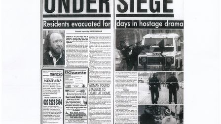 The Gazette's first coverage of the siege in the January 2, 2003 issue.