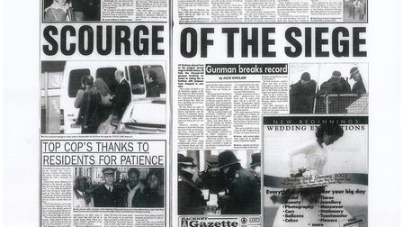 The siege coverage from inside the Gazette on January 9, 2003. People in the area were moaning about