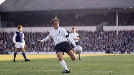 Tottenham Hotspur's Jimmy Greaves in action at White Hart Lane against Sheffield Wednesday in the Fo