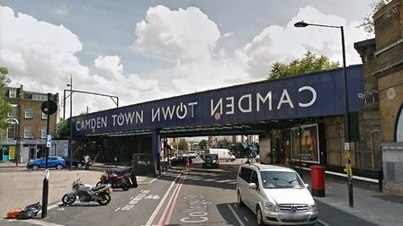 A cyclist is in a critical condition following a collision with a car in Camden after which the driv