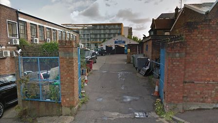 Police raided a cannabis factory in Cross Lane industrial estate in Hornsey. Picture: GOOGLE MAPS