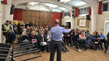 Parents of William Patten School had their say on the consultation on Monday night. Picture: Mete Co