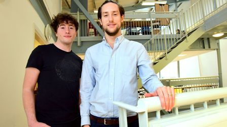 Ben Clifford (R) and Alex Potter, Allia's 'serious impact accelerator programme manager'. Picture: P