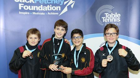 University College School boys' under-13 table tennis team triumphed at the London Schools� Table Te