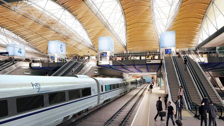 Drawings of the planned HS2 station at Euston Picture: Grimshaw Architects/PA Images