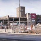 Demolition works of the Battery Green car park in Lowestoft near completion.Picture: Nick Butcher