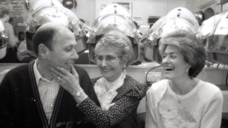 Gerald, Jean and Marcia Manning at Clapton Beauty Parlour. Picture: Clapton Beauty Parlour