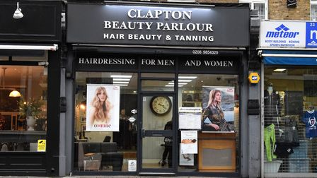 Clapton Beauty Parlour in Lower Clapton Road. Picture: Polly Hancock