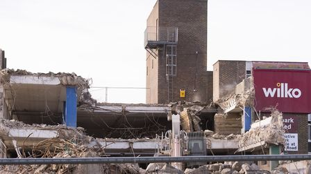 Demolition work nears completion on the the Battery Green car park.Picture: Nick Butcher