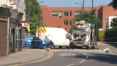 The scene of the crash in Morning Lane. Picture: Sam Gelder