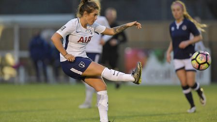 Tottenham Hotspur Ladies' Coral-Jade Haines in action at the Milllwall Lionesses in the FA Women's S