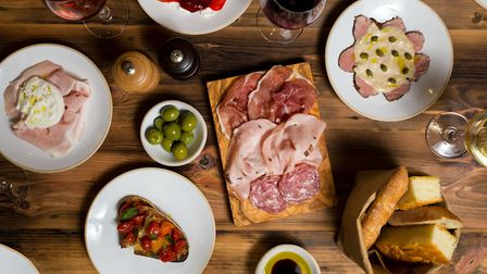 The antipasti spread at Flour and Grape