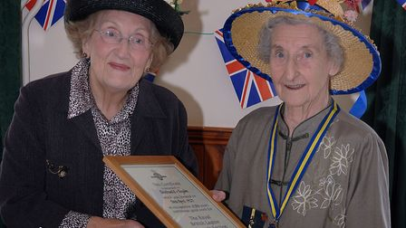 A photo from the Southwold and Reydon RBL women's section 80th birthday in 2007. Suffolk president M