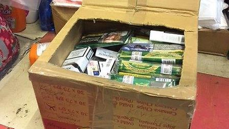 The haul of illegal tobacco seized from Hoxton Supermarket. Picture: Hackney Council