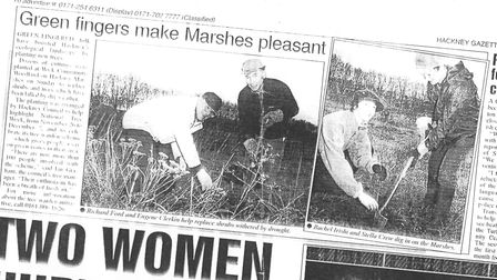 The tree wardens are mentioned in the Hackney Gazette in 1997