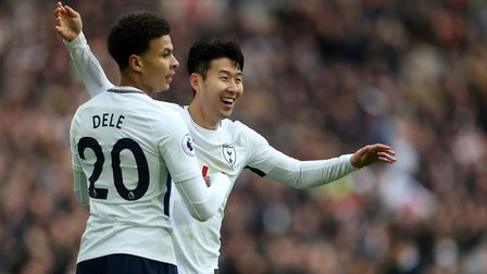 Tottenham Hotspur's Dele Alli and Heung-Min Son both scored against Southampton (pic Steven Paston/P