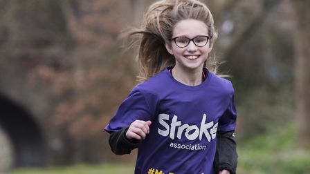 Lily Dewbery is set to to run the 5K Resolution Run in aid of the Stroke Association.Picture: Nick B