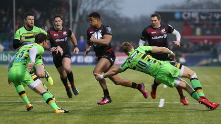 Saracens' Nathan Earle during the European Rugby Champions Cup, Pool Four match at Allianz Park, Lon