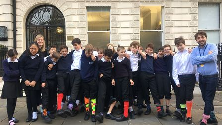 Pupils at Portland Place Schoo demonstrated their support for anti-bullying by taking part in the 'o
