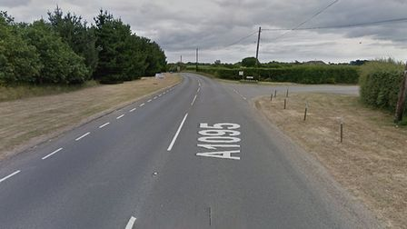 A man has been airlifted to hospital following a crash on the A1095 Halesworth Road in Reydon. Pictu