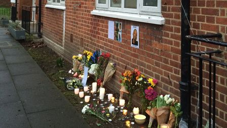 Flower, candles and messages have been left in tribute to Daniel Frederick at the spot where he died