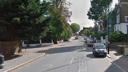 Hampstead Lane in Highgate where a boy was mugged by a teenage gang. Picture: GOOGLE MAPS