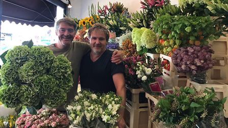 Michael Silliton and his colleague John Cousans from The Flower Seller in Muswell Hill fear a propos