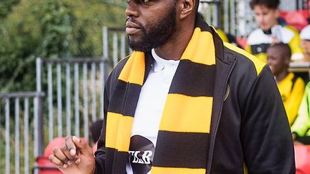 Hackney Wick owner and chairman Bobby Kasanga looks on from the touchline (pic: Hackney Wick FC).