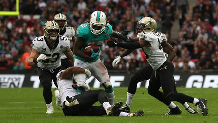 Jay Ajayi, seen here in action for Miami Dolphins, will play for Philadelphia Eagles against New Eng