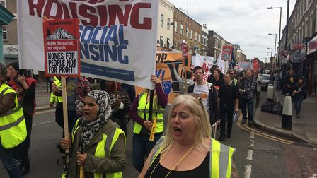 Hundreds of people opposed to Haringey Council's plan to redevelop the borough by pairing up with pr