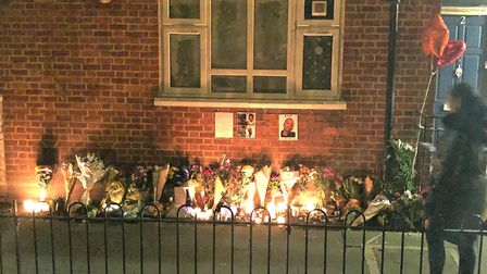 Friends and family have left flowers, candles and messages for Daniel Frederick near to where he was