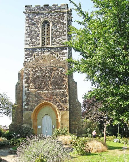 The tower and churchyard of St Mary's Hornsey, High Street Hornsey, is a Grade II* listed tower with