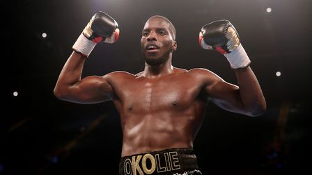 Lawrence Okolie will hope to be celebrating a win against Isaac Chamberlain on Saturday night (pic: