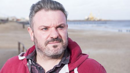 Tod Sullivan is the new mental health ambassador for Lowestoft.Picture: Nick Butcher