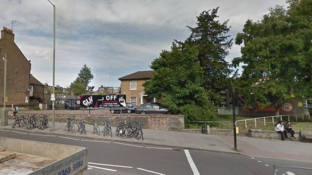 Now you see it. Valona House (behind the tree) when still the site of minicab firm GLH. Picture: GOO