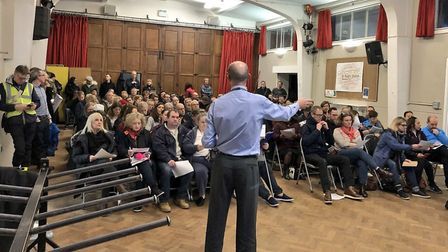 Parents of William Patten School have their say on road closure plans at a Hackney Council ward foru