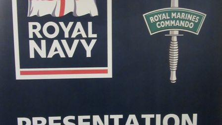 The Royal Navy Presentation Team were special guests at the latest Rotary Club of Lowestoft East Poi