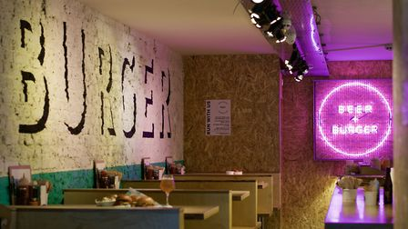 Beer and Burger has just opened in Kingsland Road.