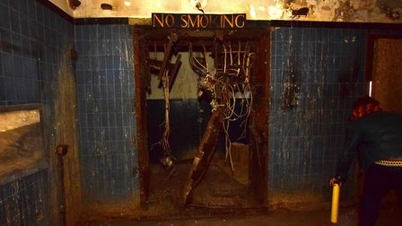 A 'no smoking' sign in the old projector room. The old film was highly flammable. Picture: Polly Han