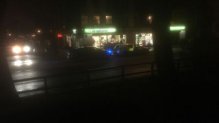 Armed robbers threatened staff and made off with cash from the Coop supermarket in Adelaide Road. Pi
