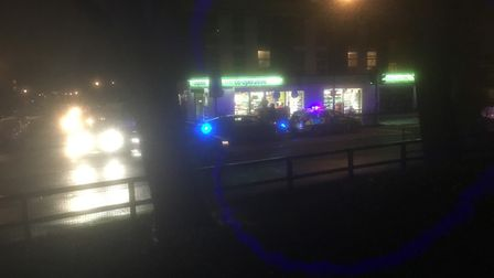 Armed Police were called following the raid at the Coop supermarket in Adelaide Road. Picture: Paul