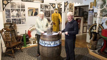 Chairman Jim Aguss and president Colin Dixon at the Lowestoft Maritime Museum. Picture: Nick Butcher