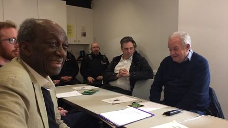Neighbours, Hampstead Heath constables and Met officers attended the meeting at Hampstead Community